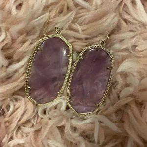 Lavender Kendra Scott earrings